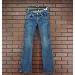 RAG & BONE Stiletto Boot Cut Jeans Size 28 HEMMED